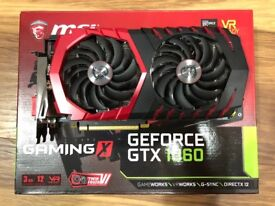 MSI Gaming X GTX 1060 3GB perfect clean condition, fully working with box and original box contents.