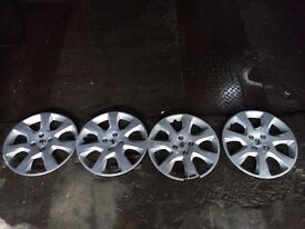 """Wheel trims 17"""" genuine peugeot"""