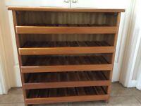 Lovely sturdy wooden wine rack (holds 40 bottles)