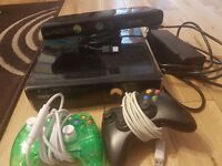 Xbox 360, 2 controllers and kinect £120 great condition, selection of games for £3 each