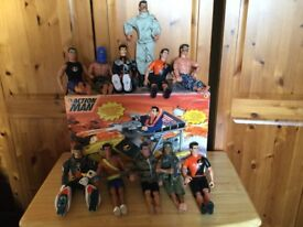 Action men bundle plus Vintage dinghy.