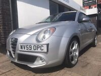 Alfa Romeo Mito 1.4 TB MultiAir Veloce 3dr PARTS & LABOUR WARRANTY