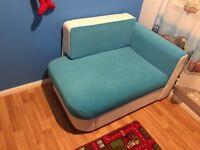 Corner sofa bed ideal for children's bedroom