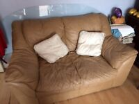 Camel leather sofa - cheap