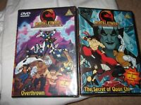 Brand new sealed Mortal Kombat dvds (overthrown and The secrets of Quan chi) in good condition