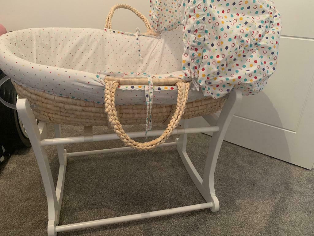 Bassinets & Cradles Lovely Moses Basket And Stand Used