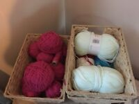 CRAFT SUPPLIES: WOOL, PATTERNS, EMBROIDERY.