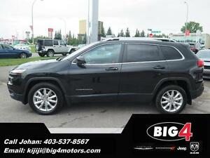 2015 Jeep Cherokee Limited, Sunroof, V6, PRICE DROP!!!