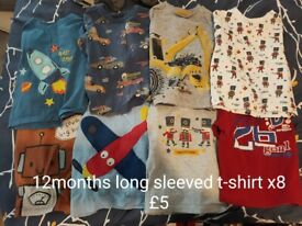 Large selection of boys 12-18months clothing