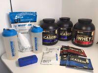 Optimum Nutrition Gold Standard Whey & Casein Shake Powder Supplement & My Protein Creatine Bundle