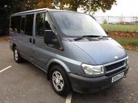 2004 04 FORD TRANSIT TOURNEO 9 SEATER MINIBUS MOT 07/17 ALLOYS AIR CON KENWOOD CD PX SWAPS