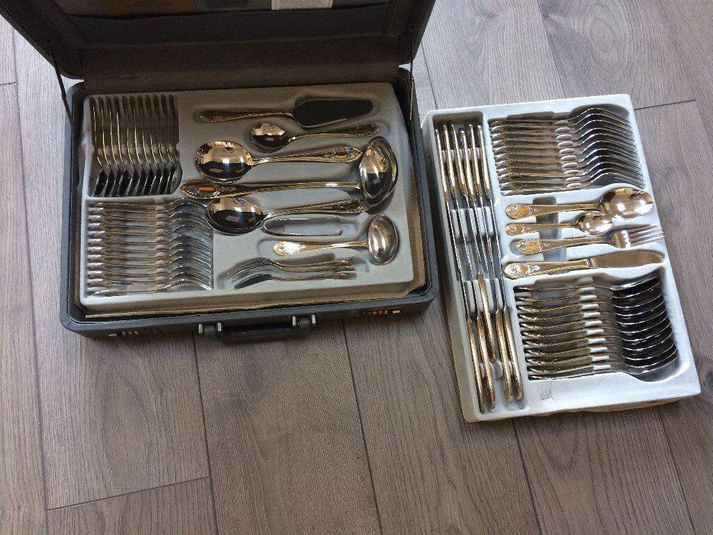 Bestecke Solingen 70 Piece 24 Carat Gold Plated Cutlery Set | in ...