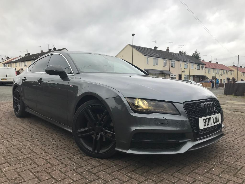 audi a7 3 0 tdi s line sportback 2011 grey in sinfin. Black Bedroom Furniture Sets. Home Design Ideas