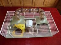 FOP Hamster Cage with accessories.