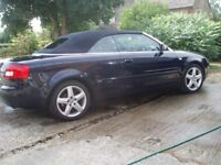 CONVERTIBLE AUDI A4 DIESEL AUTOMATIC S LINE . FSH. Includes reg Number