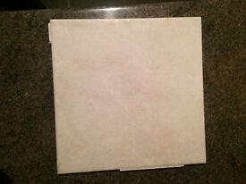 White with design Bathroom Tiles