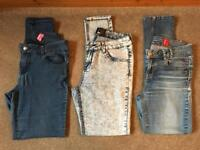 3 Pairs of Jeans. Size 10