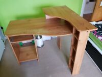 Computer Desk Pc Table Furniture One Side Drawer