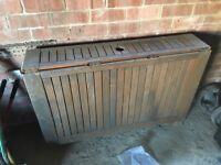 Wooden outdoor patio table