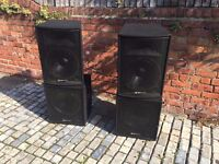 1200W P.A Speakers - QTX Sound. Excellent condition hardly used.