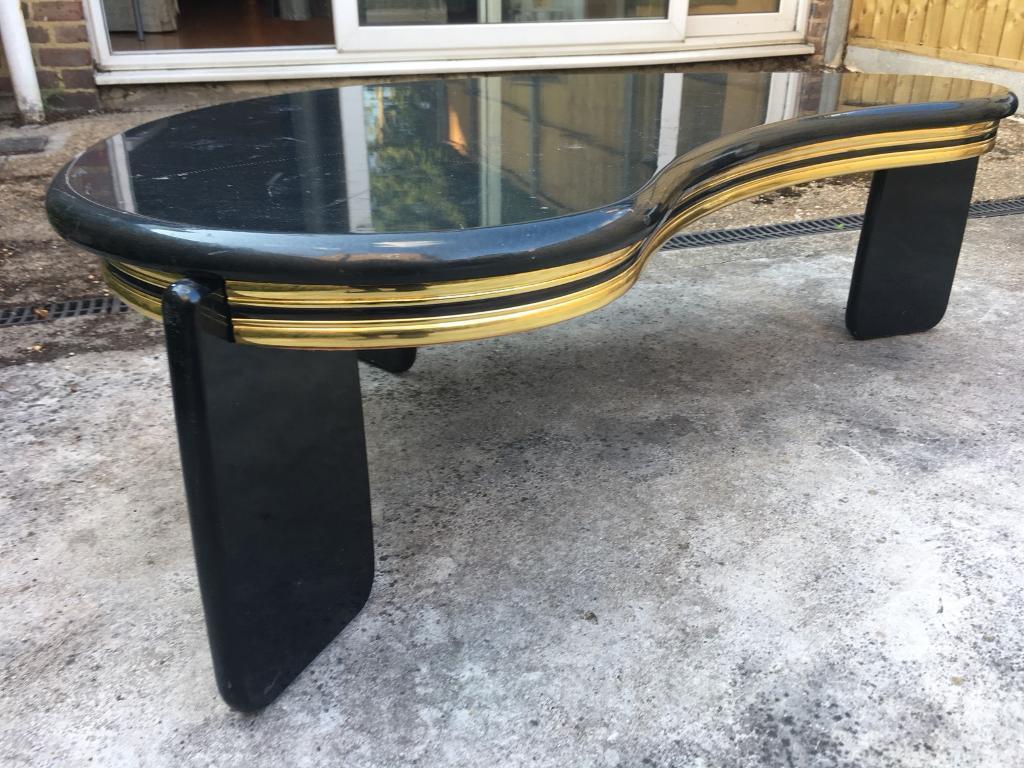 Art Deco Coffee Table Piano Shape