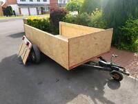 Large box brake trailer