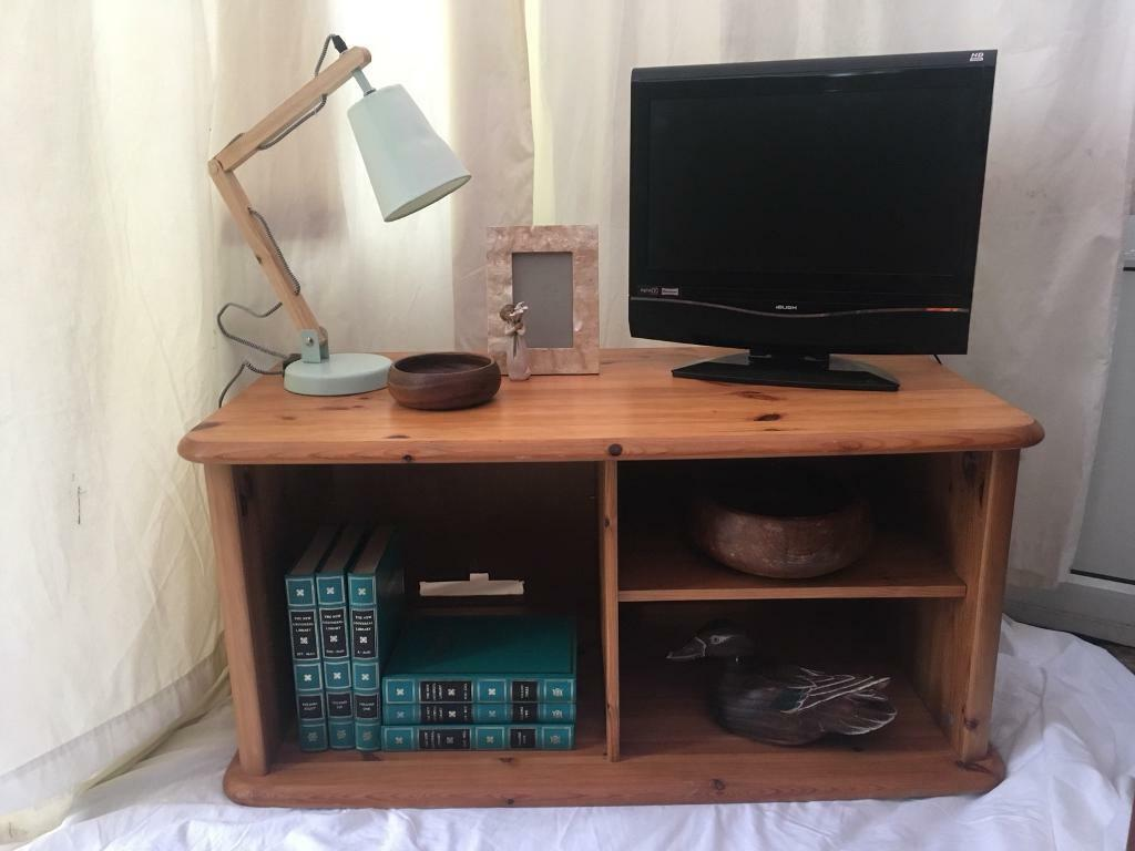 PINE tv stand TV UNIT adjustable shelf