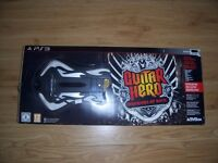 PS3 Guitar Hero 6: Warriors of Rock Game + Guitar Controller COMPLETE BOXED NEW