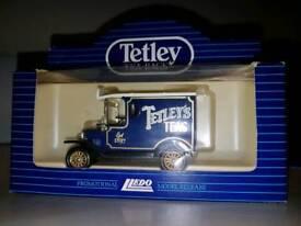Tetley Tea Toy Car, Tea Towel and Commemorative £1 Coin.