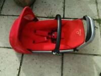 QUINNY BUZZ PUSHCHAIR SEAT UNIT ONLY RED