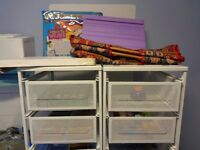 Large Selection of Various Craft Items in 2 Metal Drawer Units