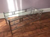 Glass top Coffee table, never used £40
