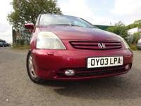 03 HONDA STREAM SE SPORT 2.0,MOT JUNE 019,2 OWNERS,2 KEYS,FULL HISTORY,SEVEN SEATER,LOVELY EXAMPLE