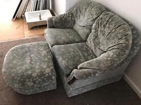 Sofa and foot rest