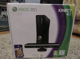xbox 360 slim + kinect + 32GB usb