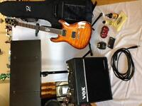 Ibanez guitar and accessories