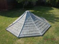 Summer House Fibre Glass, Slate Roof- Scotts' of Thrapston cut to 3/4