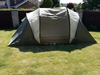 Complete camping set-tent, 4 air beds and pump, foldable camping toilet . Perfect condition £50 !
