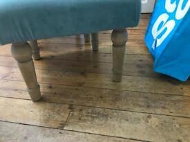 Teal footstools x 2