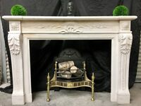 Period Continental marble Fireplace