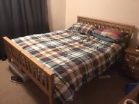 King size bed & mattress for sale