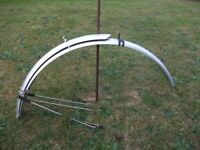NICE PAIR FULL MUDGUARDS & BRACKETS COMPLETE, ( BARGAIN ),