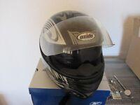 Oxide crash helmet with double visor