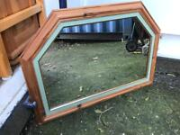 Pine mirror FREE DELIVERY PLYMOUTH AREA