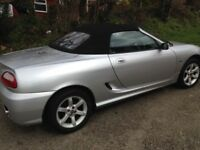 MGTF convertible ,2door manual , 12 moths mot, air bags electric windows alloys wheel , very clean