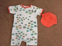 TED BAKER baby romper suit 3-6 months