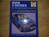 BMW e46 3 SERIES WORKSHOP MANUAL.1998-2005 AS NEW