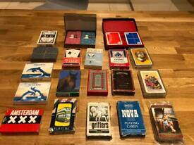 Job lot: x21 decks of playing cards, Used