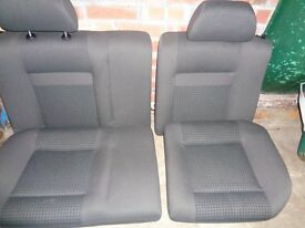 VW POLO REAR SEAT IN GREY,OUT OF A 3 DOOR