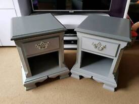 Pair of Solid Bedside Tables Cabinets
